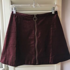 Free People Size 6 Funkytown Skirt Wine Color